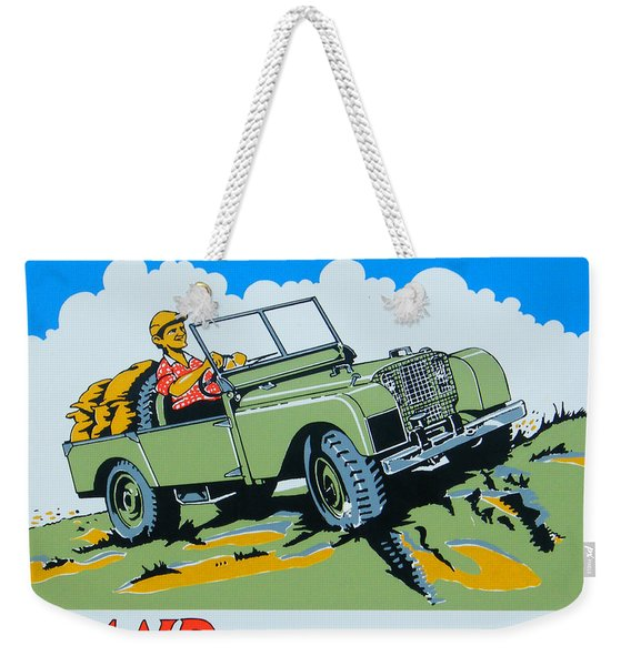 Landrover Advert - Go Anywhere.....do Anything Weekender Tote Bag