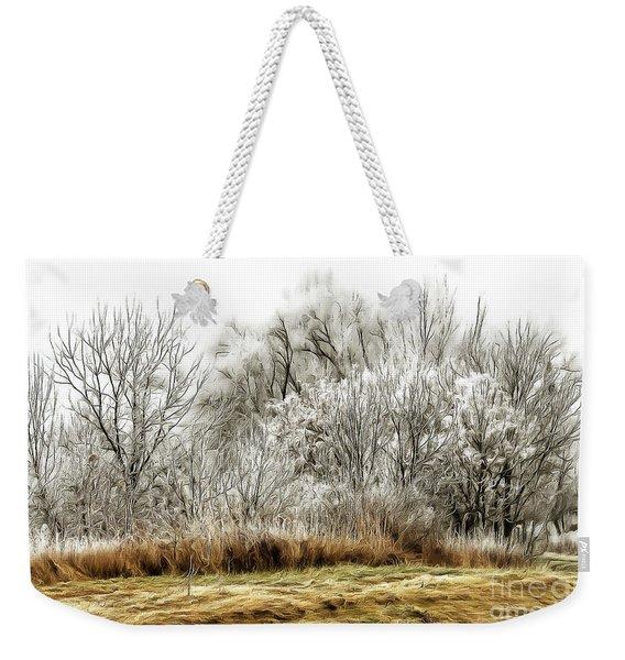Landscape In Winter Weekender Tote Bag
