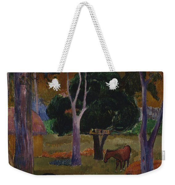 Landscape With A Pig And A Horse  Weekender Tote Bag