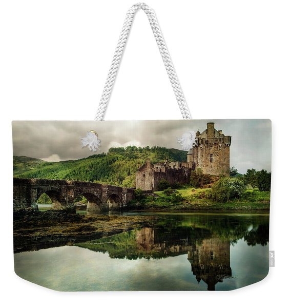 Weekender Tote Bag featuring the photograph Landscape With An Old Castle by Jaroslaw Blaminsky