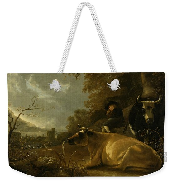 Landscape With Cows And Young Herdsman Weekender Tote Bag