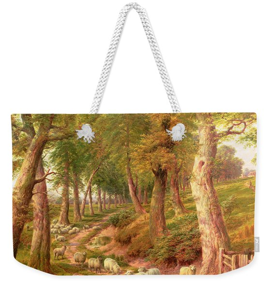 Landscape With Sheep Weekender Tote Bag