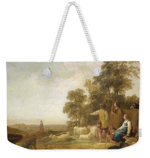 Landscape With Shepherds And Shepherdesses Near A Well Weekender Tote Bag