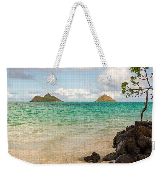 Lanikai Beach 1 - Oahu Hawaii Weekender Tote Bag