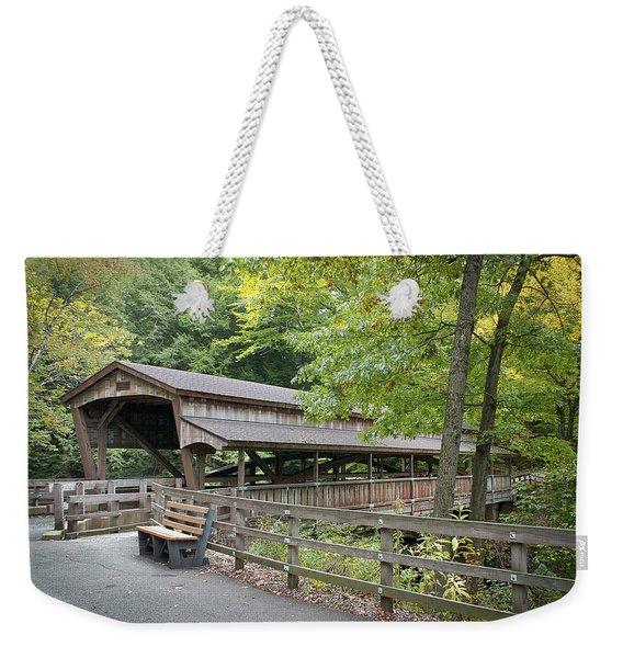 Lanterman's Mill Covered Bridge Weekender Tote Bag