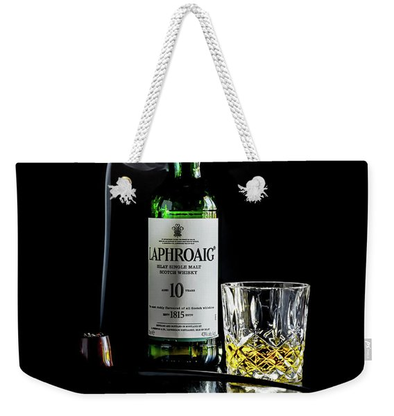 Whiskey And Smoke Weekender Tote Bag