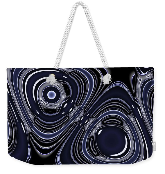 Lapis And Chrome Abstract Weekender Tote Bag