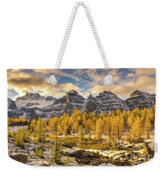 Larch Valley Golden Larches Landscape Weekender Tote Bag