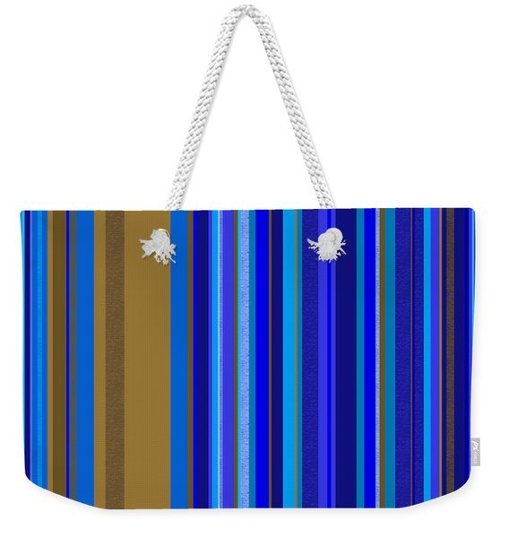 Large Blue Abstract - Panel Two Weekender Tote Bag