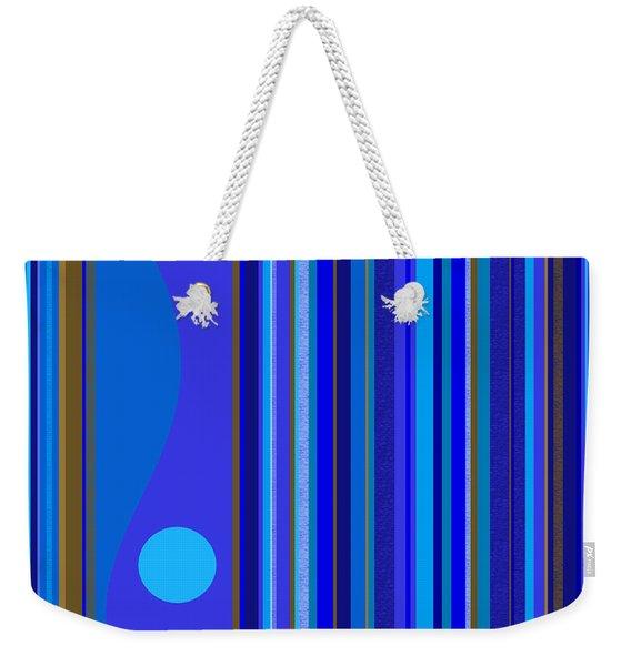 Large Blue Abstract Weekender Tote Bag