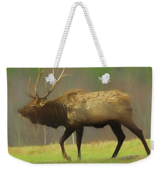 Large Pennsylvania Bull Elk. Weekender Tote Bag