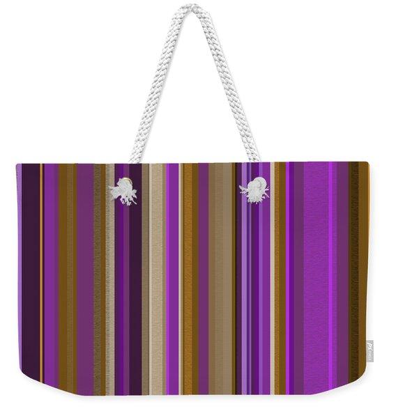 Large Purple Abstract - Three Weekender Tote Bag
