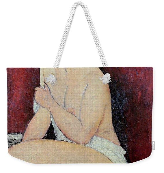 Large Seated Nude Weekender Tote Bag