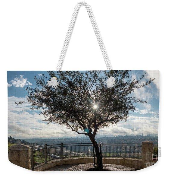 Large Tree Overlooking The City Of Jerusalem Weekender Tote Bag