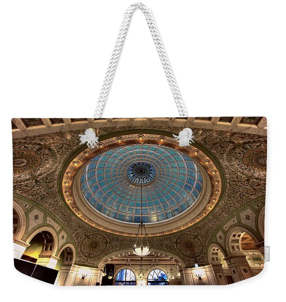 Largest Tiffany Glass Dome - Chicago Weekender Tote Bag