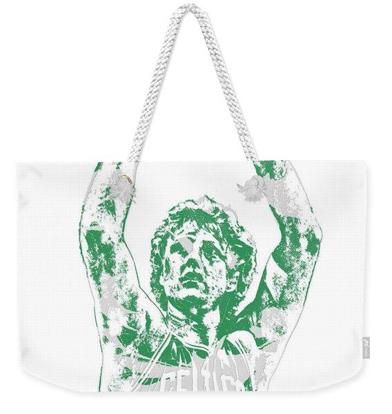 Larry Bird Boston Celtics Pixel Art 5 Weekender Tote Bag