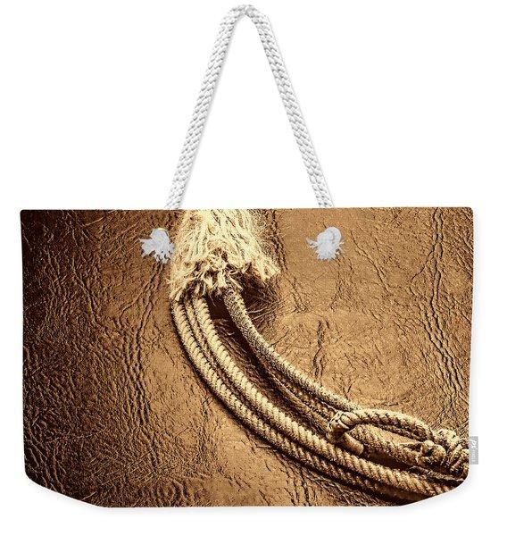 Lasso On Leather Weekender Tote Bag
