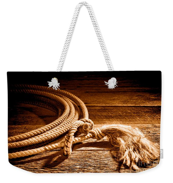 Lasso - Sepia Weekender Tote Bag