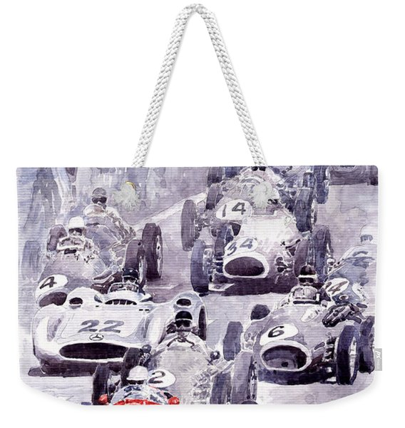 Last Control Maserati 250 F France Gp 1954 Weekender Tote Bag