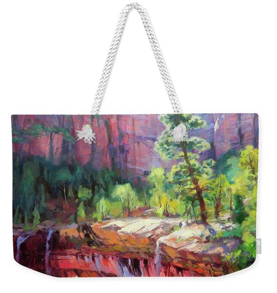 Last Light In Zion Weekender Tote Bag