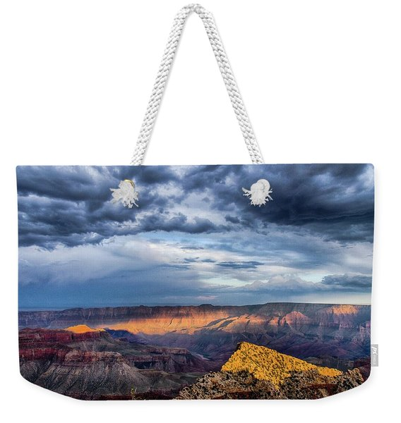 Last Light On Freyas Castle Weekender Tote Bag