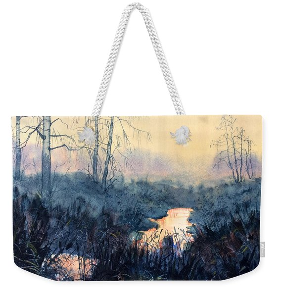 Last Light On Skipwith Marshes Weekender Tote Bag