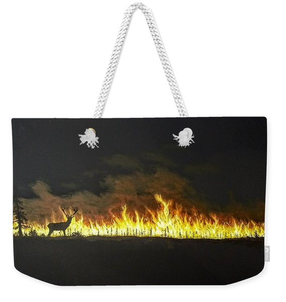 Weekender Tote Bag featuring the painting Last Look Back At Home by Kevin Daly