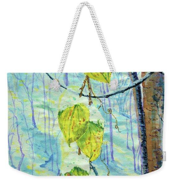 Last Of The Leaves Weekender Tote Bag