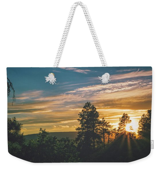 Weekender Tote Bag featuring the photograph Last Rays Of Sunday by Jason Coward