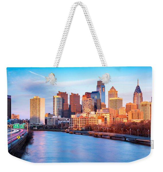 Weekender Tote Bag featuring the photograph Late Afternoon In Philadelphia by Mihai Andritoiu