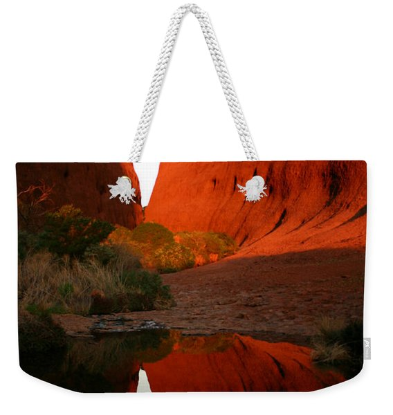 Late Afternoon Light And Reflections At Kata Tjuta In The Northern Territory Weekender Tote Bag