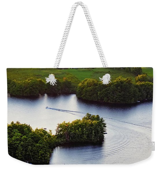 Weekender Tote Bag featuring the photograph Late Afternoon On Lake Megunticook, Camden, Maine -43988 by John Bald