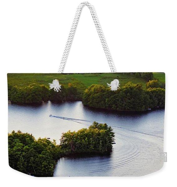 Late Afternoon On Lake Megunticook, Camden, Maine -43988 Weekender Tote Bag