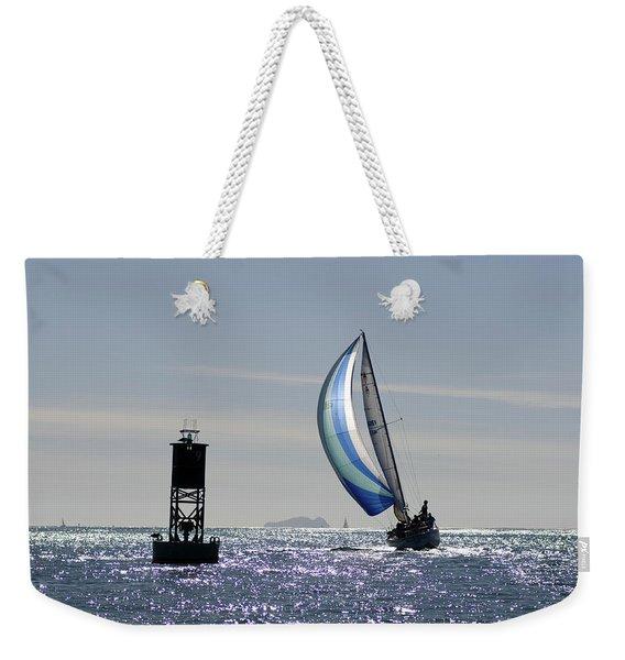 Late Afternoon Sail Weekender Tote Bag