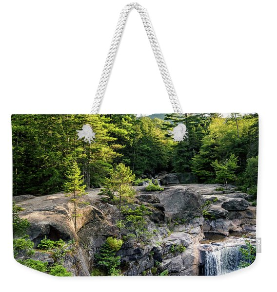 Weekender Tote Bag featuring the photograph Late Afternoon, Screw Auger Falls, Newry, Maine #10100-10102 by John Bald