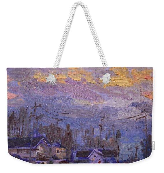 Late Evening In Town Weekender Tote Bag