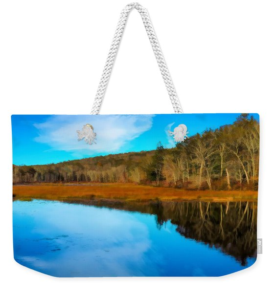 Late Fall At A Connecticut Marsh. Weekender Tote Bag