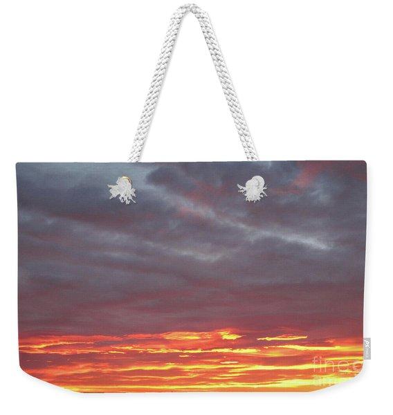 Late Prairie Sunrise Weekender Tote Bag