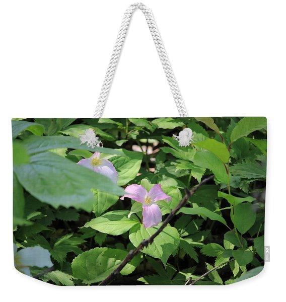 Late Season Trillium Weekender Tote Bag