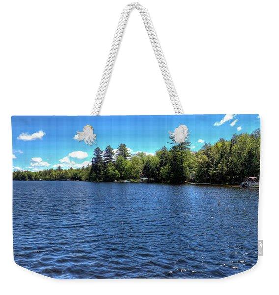 Late Spring On 6th Lake Weekender Tote Bag