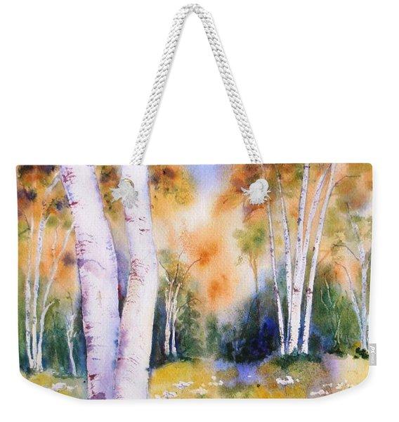 Late Summer Birches Weekender Tote Bag