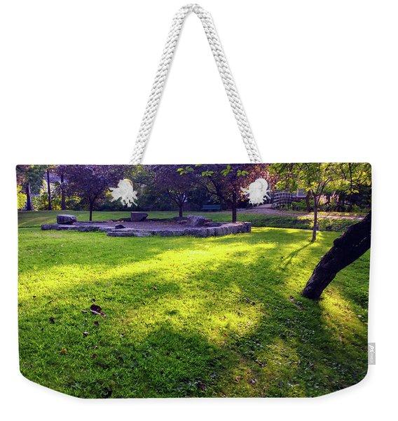 Late Summer Light Weekender Tote Bag