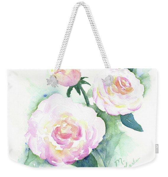 Late Summer Roses Weekender Tote Bag