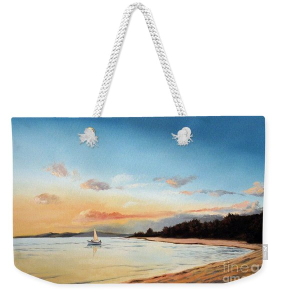 Late Sunset Along The Beach Weekender Tote Bag