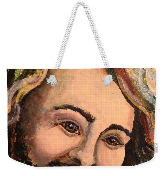 Laughing Jesus Weekender Tote Bag