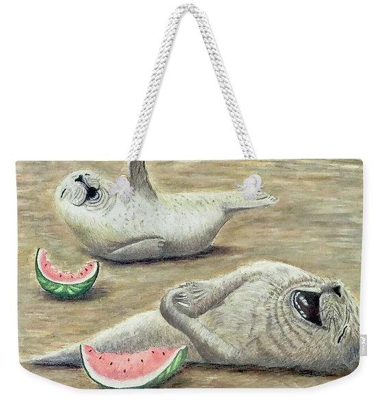 Laughing Weekender Tote Bag