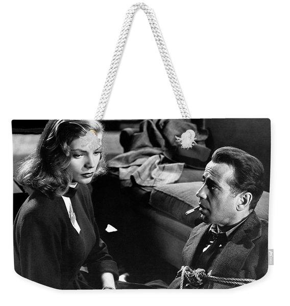 Lauren Bacall Humphrey Bogart Film Noir Classic The Big Sleep 1 1945-2015 Weekender Tote Bag
