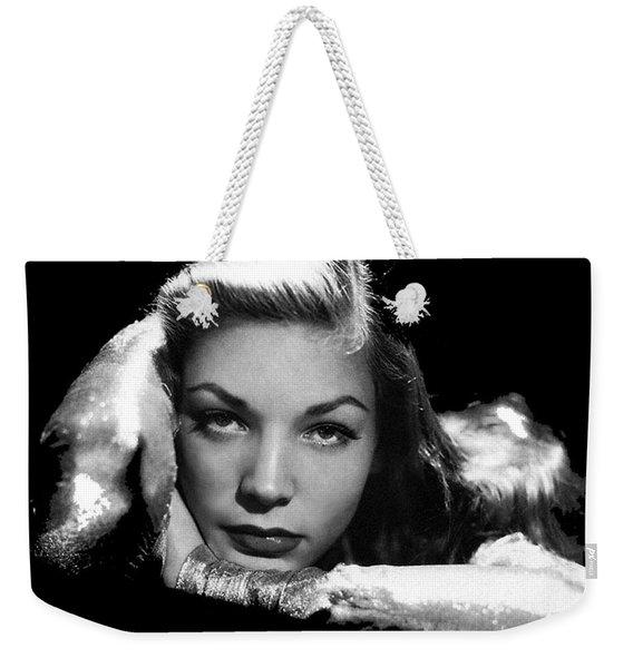 Lauren Bacall Publicity Photo Circa 1945-2015 Weekender Tote Bag