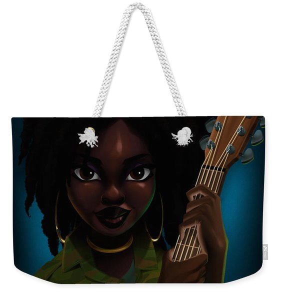 Weekender Tote Bag featuring the digital art Lauryn Hill by Nelson Dedos Garcia