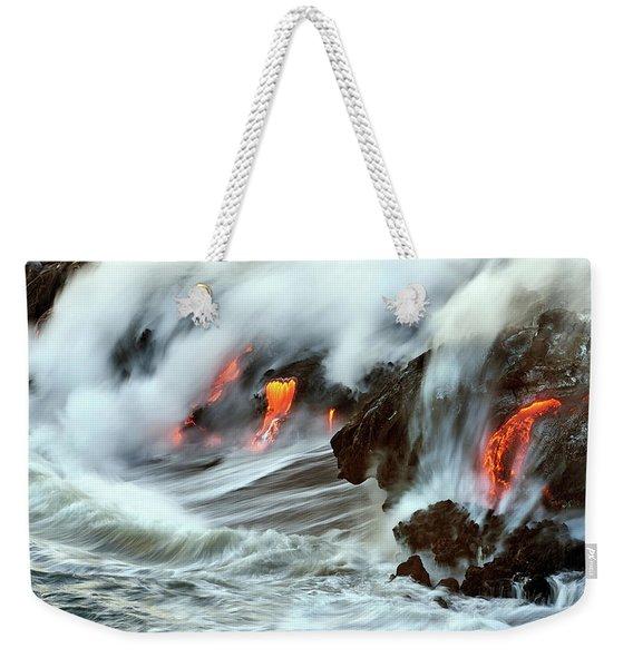 Lava And Ocean Weekender Tote Bag